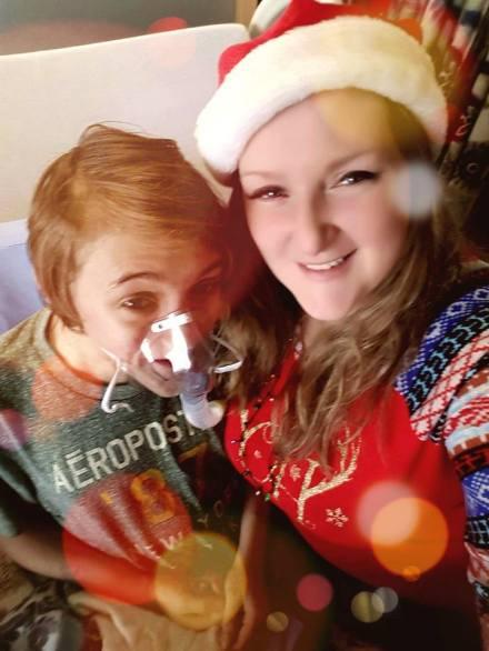 B and me santa hat 2017